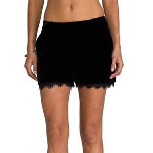 NWOT Diane Von Furstenberg Velvet Lace Shorts